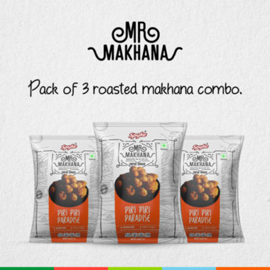 Mr. Makhana Roasted Makhana Pack OF 3X75gm - Piri Piri Paradise