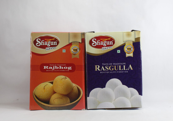Shagun Rasgulla With Rajbhog