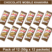 Chocolate Mobile Khakhra 50g (Pack Of 12)