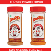 Combo Chutney Powder 100g (Pack Of 4) (Flax Seeds, Gun Powder)