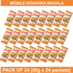 MOBILE KHAKHRA MASALA 50G (PACK OF 24)