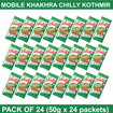 Mobile Khakhra Chilly Kothmir 50g (Pack Of 24)