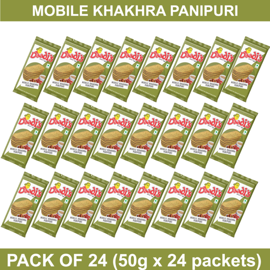 Mobile Khakhra Pani Puri 50g (Pack Of 24)